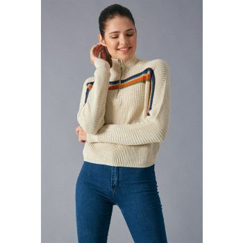 Robin Zippered Sweater Stone