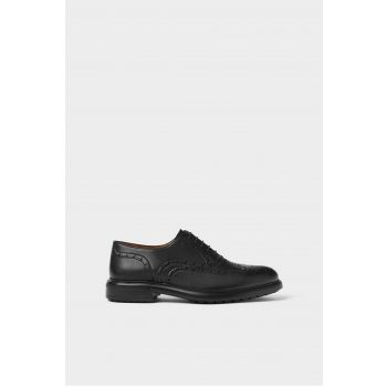 LEATHER BROGUES - ZARA LIGHT