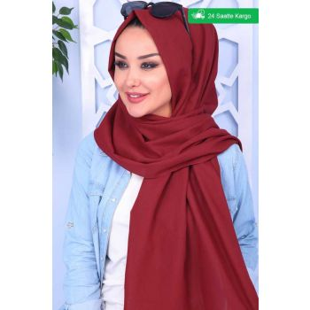 Patternless Single Color Red Shawl