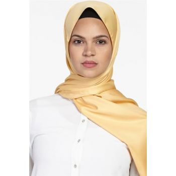 Women Mustard Solid Color Foulard Shawl Sapphire-SP-19Y-1001-55