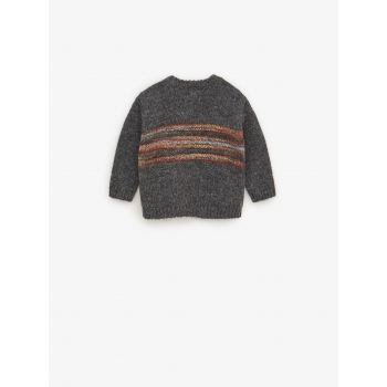 PATTERNED THREAD SWEATER