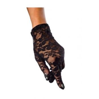 Black Short Lace Gloves 555