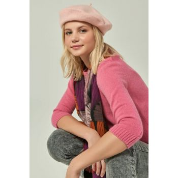 Women's 12754 Pink Painter Beret SPK-2901
