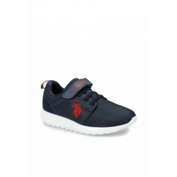 US Polo Assn Navy Blue Unisex Kids Sneaker HONEY