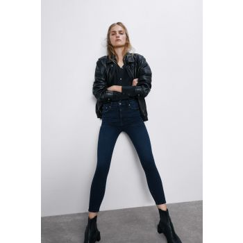ZW PREMIUM '80S HIGH WAIST NIGHT BLUE BLACK JEANS