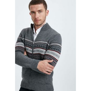 Men's Gray Cardigan 8W0814Z8