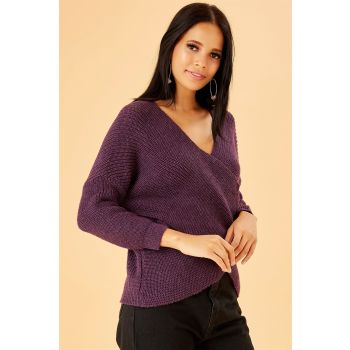 Wraped Purple Sweater