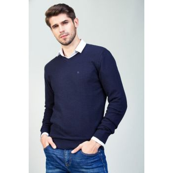 Men's Dark Navy Blue Sweater - A82Y5204-115