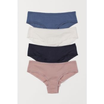 4-Piece Cotton Hipster Briefs