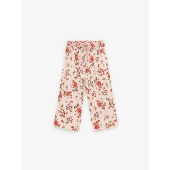 PLEATED FLORAL TROUSERS