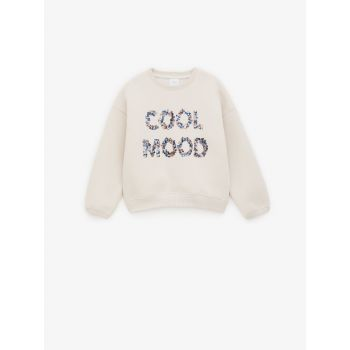SEQUINNED 'COOL MOOD' SWEATSHIRT