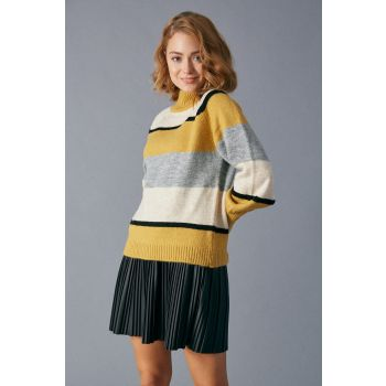 Robin Striped Sweater Dark Mustard
