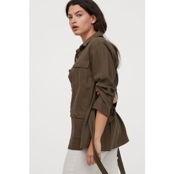 Belted Shirt Jacket