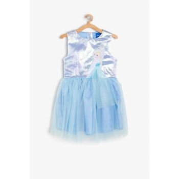 Blue Girls' Frozen Printed Dress 9YKG87694AW