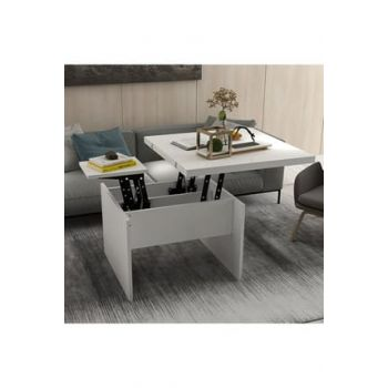 New Charisma Smart Coffee Table And Table White KS3-227