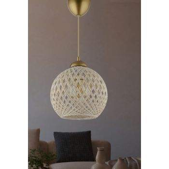 Balle Cloth-Silver Ball Pendant Chandelier MD350