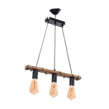 Karmen Authentic Natural Wood 3-Chandelier 10976