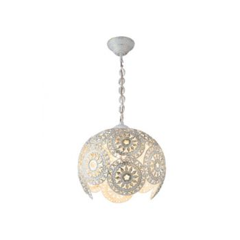 Single White Tempered Glass Chandelier MDL.2759