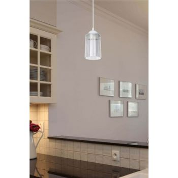 Transparent Optical Promo Pendant Lamp - Double Bulb Looking Glass ASZ.1025
