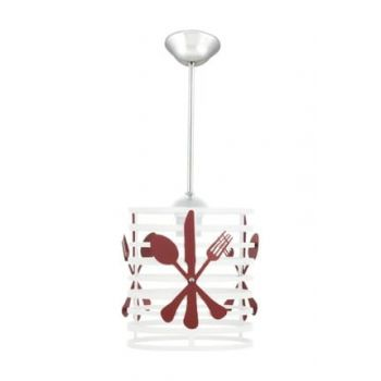 Cutlery White Red Kitchen Chandelier 0268