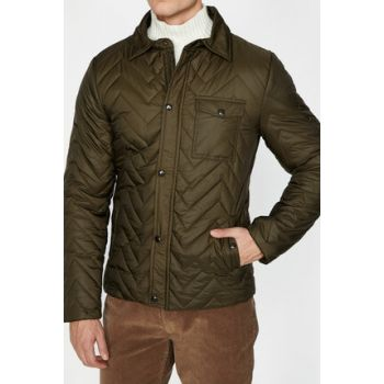 Men's Green Patterned Coats 9KAM21130NW