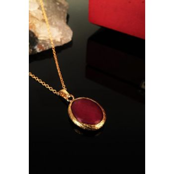 Women Natural Stone Ceyt Stone Gold Plated Necklace Krb143 KRB143