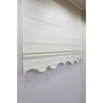 90 x 200 Plywood Stor Zebra Curtain Ecru MZ481 8605480596074