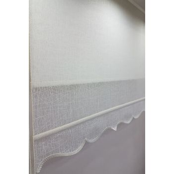 140X200 Double Mechanism Tulle Curtain and Roller Blinds MT1084 8605480845026