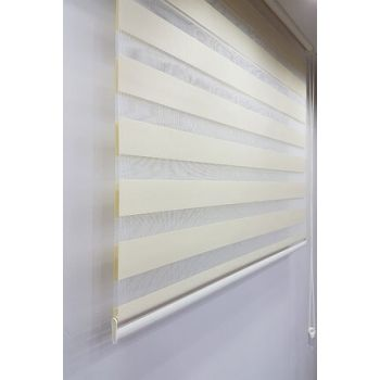 140 x 200 Roller Zebra Curtain Cream MZ509 8605480580658