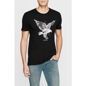 Men's Printed Black T-Shirt 8806049-900 8806049-900