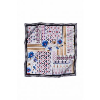09 Rayon Poly Scarf with Patterned 12108P 457387