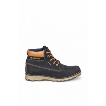 Genuine Leather Dark Navy Men Shoes 000000000100263956