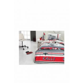 Cotton Box Junior Single Ranforce Duvet Cover Set - Red Car ctn372