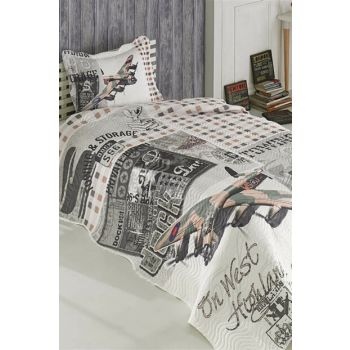 Minteks Barcelona Single Bedspread Plane 12594