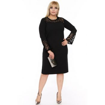 Women's Spanish Sleeve Black Dress 4D-69249 17884