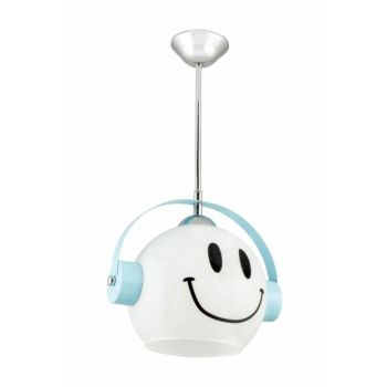 Custom Made Blue Smiling Children's Room Chandelier 0276