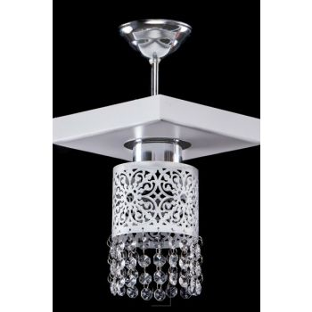 Luxurious Crystal White Square Single Chandelier SNM1377