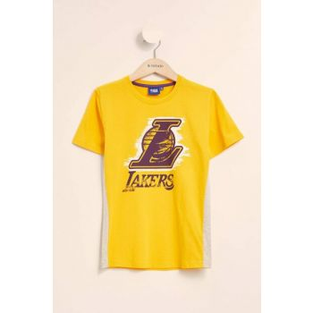 Yellow Boys Kids Lakers Licensed Short Sleeve T-shirt K5519A6.19SM.YL113