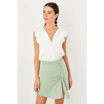 Mint Front Smooth Shorts Skirt TWOSS19EH0181