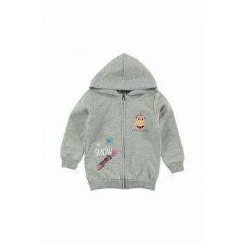 Gray Boy's Cardigan 39A199423SS1