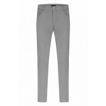 Men's Gray Slim Straigh Pants 332772