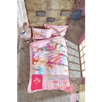 Young Room Single Bedding Set Pink Escape 8680108044810