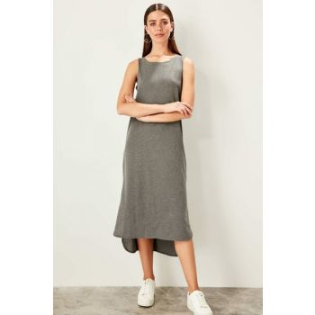 Anthracite Cycling Neckline Knitted Dress TWOSS19VG0317