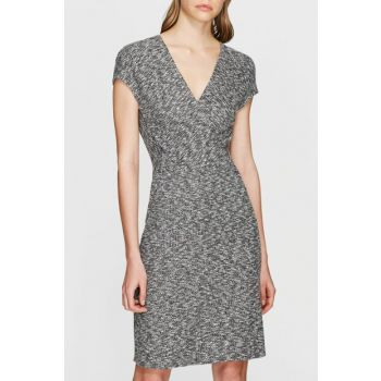 Women's V-neck Gray Dress 167670-28386