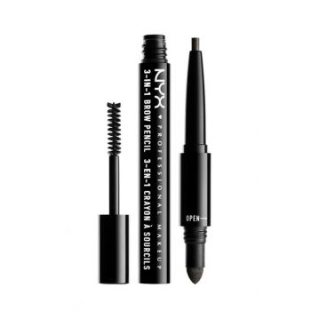 3 In 1 Eyebrow Pencil - 3 in 1 Brow Black 800897078935 NYXPMU31B