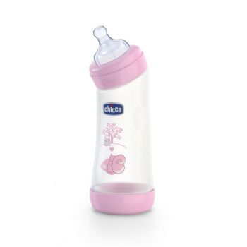 Wellbeing Angled Baby Bottle Pink 0 + Month 250Ml 00020621100000