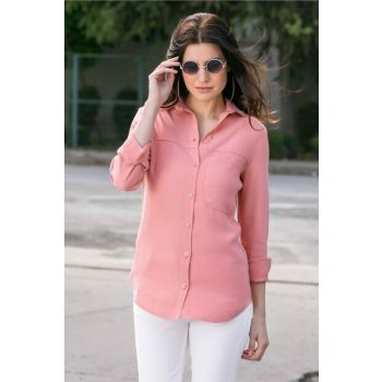 Women's Powder Pocket Detailed Shirt 9YGO778K110