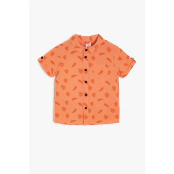 Coral Patterned Baby Boy Shirt 9YMB68792OW