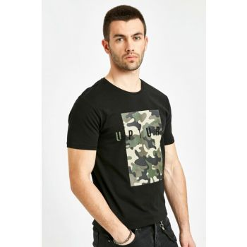 Men's New Black T-Shirt 9SQ989Z8