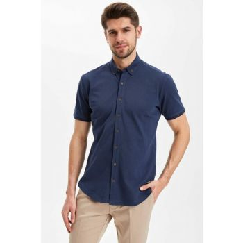 Men's Single Pocket Modern Fit Shirt K2097AZ.19SM.IN75